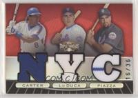 Gary Carter, Paul Lo Duca, Mike Piazza #/36