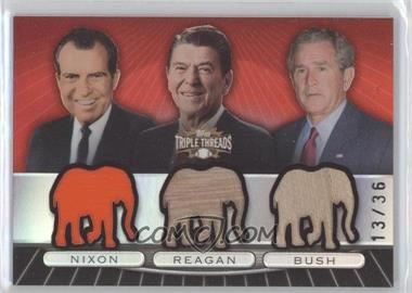2007 Topps Triple Threads - Relic Combos #TTRC86 - Richard Nixon, Ronald Reagan, George W. Bush /36