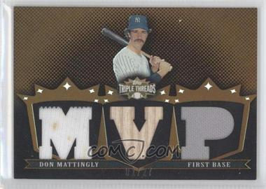 2007 Topps Triple Threads - Relics - Sepia #TTR116 - Don Mattingly /27