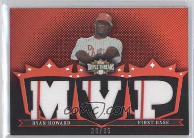 2007 Topps Triple Threads - Relics #TTR-17 - Ryan Howard /36