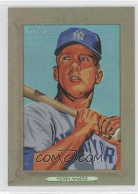 2007 Topps Turkey Red - [Base] - Chrome Refractors #117 - Mickey Mantle /999