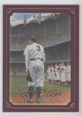 2007 UD Masterpieces - [Base] - Pinot Red Frame #2 - Babe Ruth /75
