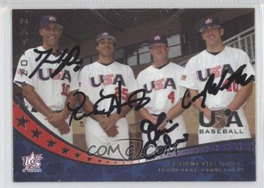 2007 USA Baseball - [Base] - Autographs #27 - David Price, Pedro Alvarez, Tim Corbin, Casey Weathers