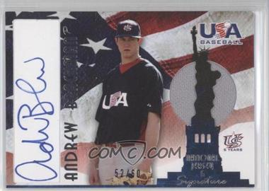 2007 USA Baseball - National Jersey & Signature - Blue Ink #AJ-20 - Andrew Brackman /60