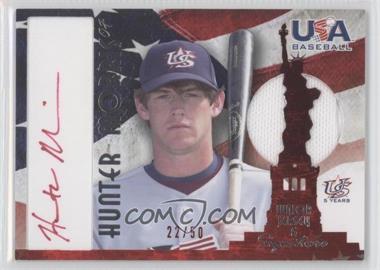 2007 USA Baseball - National Jersey & Signature - Red Ink #AJ-24 - Hunter Morris /50