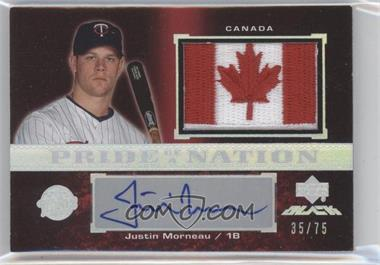 2007 Upper Deck Black - Pride of a Nation Veteran Autographs #PN-MO - Justin Morneau /75
