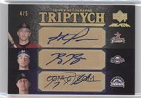 Ryan Braun, Troy Tulowitzki, Hunter Pence #/5
