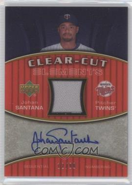 2007 Upper Deck Elements - Clear-Cut Elements - Gold #CCE-SA - Johan Santana /49