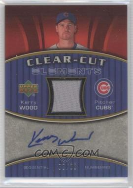 2007 Upper Deck Elements - Clear-Cut Elements - Silver #CCE-KW - Kerry Wood /99