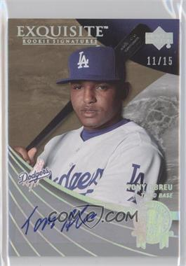 2007 Upper Deck Exquisite Rookie Signatures - All Rookie Team - Silver Spectrum #ART-TA - Tony Abreu /15
