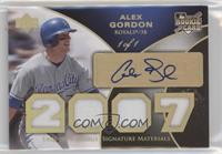 Rookie Signature Materials Patch - Alex Gordon #1/1
