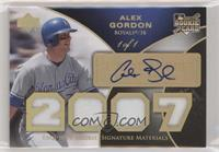 Rookie Signature Materials Patch - Alex Gordon #/1