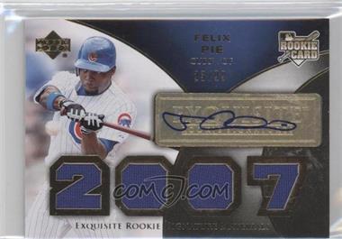 2007 Upper Deck Exquisite Rookie Signatures - [Base] - Gold #173 - Felix Pie /99
