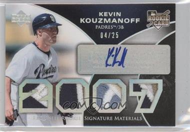 2007 Upper Deck Exquisite Rookie Signatures - [Base] - Silver Spectrum #171 - Kevin Kouzmanoff /25