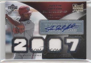 2007 Upper Deck Exquisite Rookie Signatures - [Base] #162 - Justin Upton /199