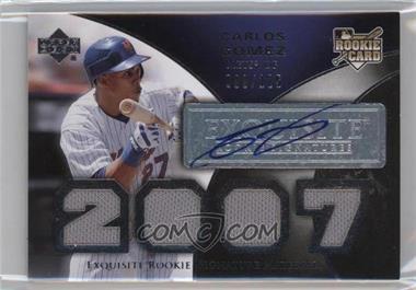 2007 Upper Deck Exquisite Rookie Signatures - [Base] #193 - Carlos Gomez /125