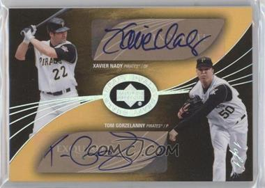 2007 Upper Deck Exquisite Rookie Signatures - Draft Duals - Silver Spectrum #DD-NG - Xavier Nady, Tom Gorzelanny /1