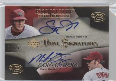 2007 Upper Deck Exquisite Rookie Signatures - Dual Signatures - Gold #EDS-DO - Stephen Drew, Micah Owings /25