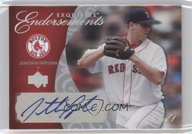 2007 Upper Deck Exquisite Rookie Signatures - Exquisite Endorsements - Silver Spectrum #EE-JP - Jonathan Papelbon /1