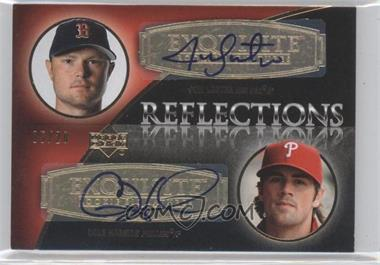2007 Upper Deck Exquisite Rookie Signatures - Reflections - Gold #REF-LH - Jon Lester, Cole Hamels /20