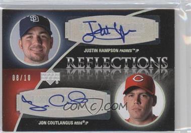 2007 Upper Deck Exquisite Rookie Signatures - Reflections - Silver Spectrum #REF-HC - Justin Hampson, Jon Coutlangus /10
