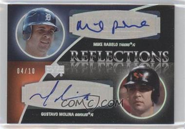 2007 Upper Deck Exquisite Rookie Signatures - Reflections - Silver Spectrum #REF-RM - Mike Rabelo, Gustavo Molina /10