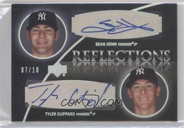 2007 Upper Deck Exquisite Rookie Signatures - Reflections - Silver Spectrum #REF-ST - Sean Henn, Tyler Clippard /10