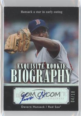 2007 Upper Deck Exquisite Rookie Signatures - Rookie Biography - Silver Spectrum #ERB-HA - Devern Hansack /10
