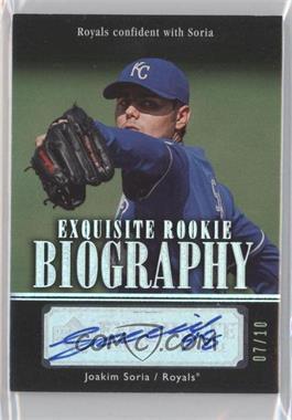 2007 Upper Deck Exquisite Rookie Signatures - Rookie Biography - Silver Spectrum #ERB-SO - Joakim Soria /10