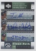 Travis Hafner, Victor Martinez, Jeremy Sowers
