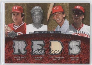 2007 Upper Deck Premier - [???] #RR4-14 - Tony Perez, Johnny Bench, Joe Morgan, Dave Concepcion /25