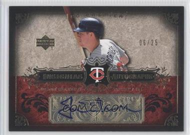 2007 Upper Deck Premier - Insignias Autographs - Gold #IN-MO - Justin Morneau /25