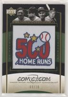 Babe Ruth, Jimmie Foxx, Mel Ott, Eddie Mathews /10