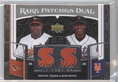 2007 Upper Deck Premier - Rare Patches Dual #RP2-TR - Miguel Tejada, Jose Reyes /50