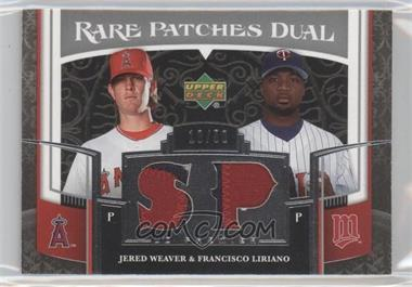 2007 Upper Deck Premier - Rare Patches Dual #RP2-WL - Jered Weaver, Francisco Liriano /50