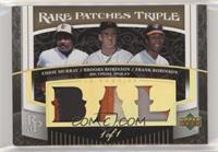 Eddie Murray, Brooks Robinson, Frank Robinson [EX to NM] #/1