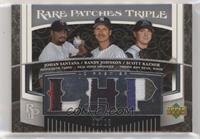 Johan Santana, Randy Johnson, Scott Kazmir [EX to NM] #/25