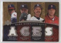 Nolan Ryan, Roger Clemens, Randy Johnson, Curt Schilling /5