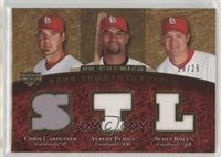 Chris Carpenter, Albert Pujols, Scott Rolen /25