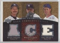 Randy Johnson, Roger Clemens, Greg Maddux [Noted] #/50