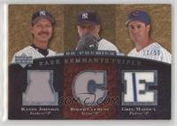 Randy Johnson, Roger Clemens, Greg Maddux #/50