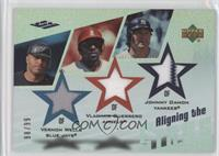 Vernon Wells, Vladimir Guerrero, Johnny Damon /99