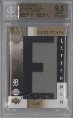 2007 Upper Deck Sweet Spot - Legendary Lettermen #LL-15 - Ty Cobb /5 [BGS9]