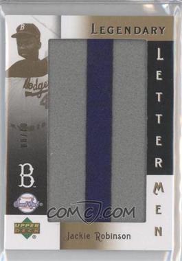 2007 Upper Deck Sweet Spot - Legendary Lettermen #LL-26 - Jackie Robinson /10