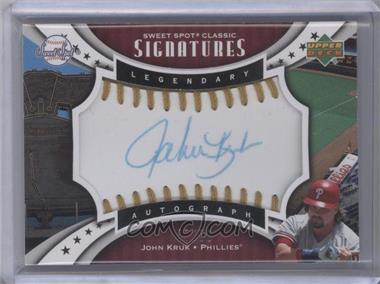 2007 Upper Deck Sweet Spot - Sweet Spot Signatures - Gold Stitch Blue Ink #SPS-JK - John Kruk