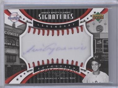 2007 Upper Deck Sweet Spot Classic - Legendary Autograph - Blue Ink Red Stitch #SPS-LA - Luis Aparicio