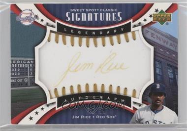 2007 Upper Deck Sweet Spot Classic - Legendary Autograph - Gold Stitch Gold Ink #SPS-JR - Jim Rice /99 [EXtoNM]