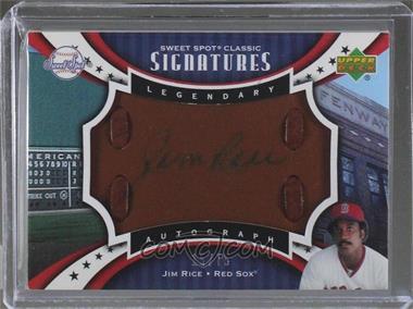 2007 Upper Deck Sweet Spot Classic - Legendary Autograph - Leather Blue Ink #SPS-RI - Jim Rice /75