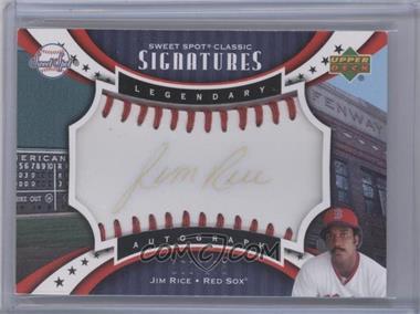 2007 Upper Deck Sweet Spot Classic - Legendary Autograph - Red Stitch Black Ink #SPS-RI - Jim Rice /175