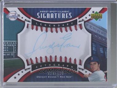2007 Upper Deck Sweet Spot Classic - Legendary Autograph - Red Stitch Blue Ink #SPS-EV - Dwight Evans /125